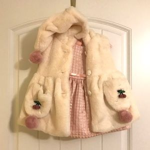 Cute pink dress with jacket(no brand), 9-12 months